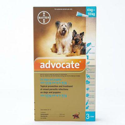 Advocate® za pse težine 4-10kg 1 pipeta