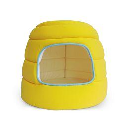 All for Paws Dome Hut Kitty kućica za mačiće platnena žuta