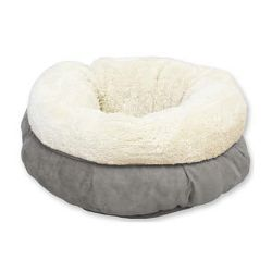 All for Paws Donut ležaljka za mačke siva 45x25cm
