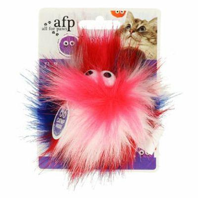 All for Paws Fluffy orange ball igračka za mačke