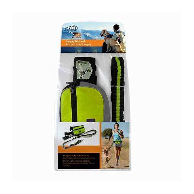 All for Paws Jogging povodac sa torbicom zeleni