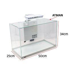 Atman ZGTXL50 akvarij 50x25x34cm bijeli