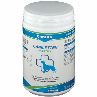CANINA Caniletten, tablete za optimalnu opskrbu vitaminima, kalcijem i fosforom 300g
