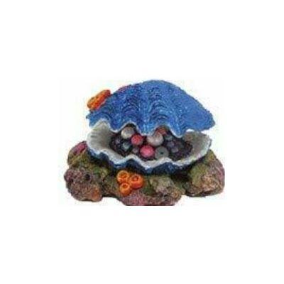 Croci dekoracija za akvarij školjka sa blagom
