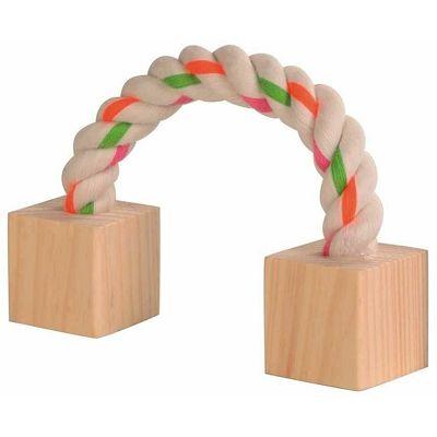 Croci drvena igračka sa užetom 3x3x20cm