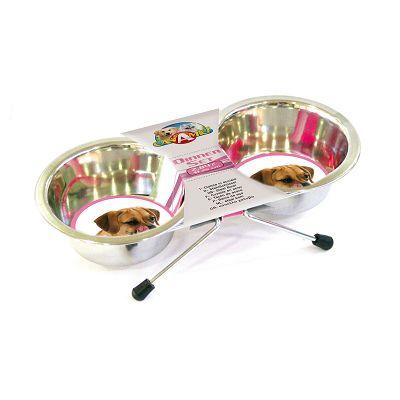Croci duo zdjele za hranu 2x1,89l 20cm
