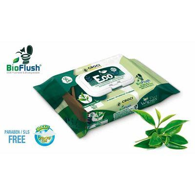 Croci Eco biorazgradive vlažne maramice zeleni čaj