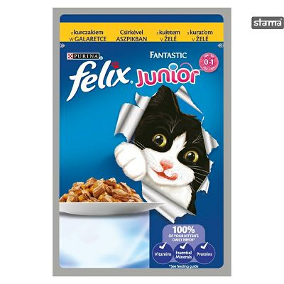 Felix Fantastic junior hrana za mačiće sa piletinom u želeu 100g