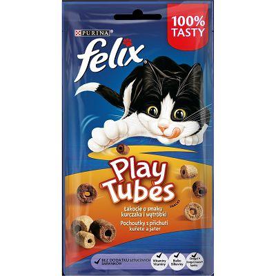 Felix Play Tubes poslastica za mačke s okusom piletine i jetrice, 50g