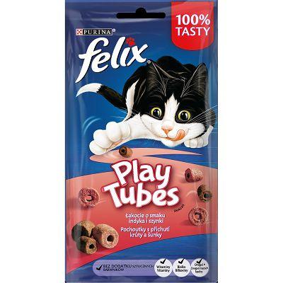 Felix Play Tubes poslastica za mačke sa okusom puretine i šunke 50g