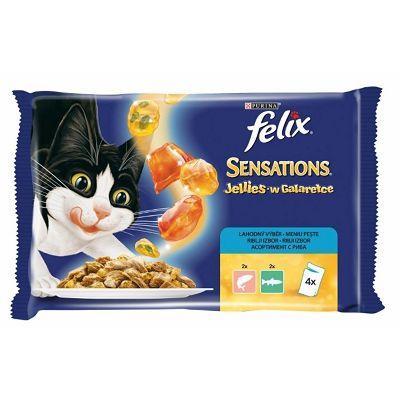 Felix Sensations Jellies hrana za mačke sa lososom i pastrmkom u želeu 4x100g