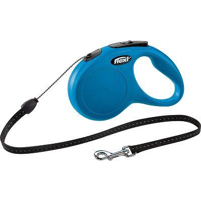 Flexi povodac za psa Classic S 500cm cord plavi