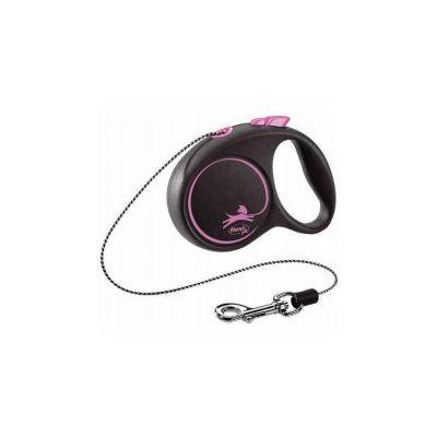 Flexi povodac za psa Black Design XS 300cm cord pink