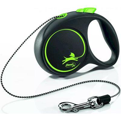 Flexi povodac za psa Black Design XS 300cm cord zeleni