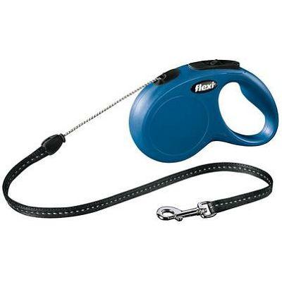 Flexi povodac za psa Classic M 500cm cord - plavi