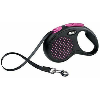 Flexi povodac za pse design M 5m cord - pink