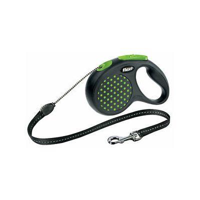 Flexi povodac za pse design S 5m cord - zeleni