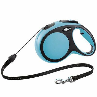 Flexi povodac za pse New Comfort M 8m cord - plavi