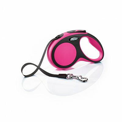 Flexi povodac za pse New Comfort S 5m type - pink