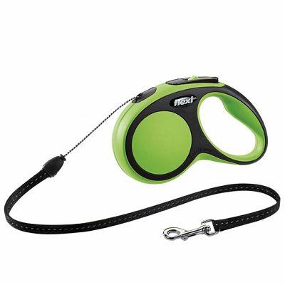 Flexi povodac za pse New Comfort S 5m type - zeleni