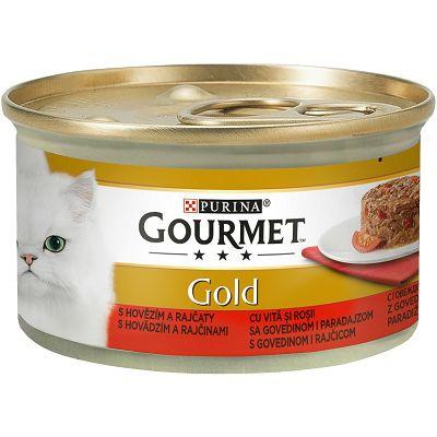 Gourmet Gold hrana za mačke govedina 85g