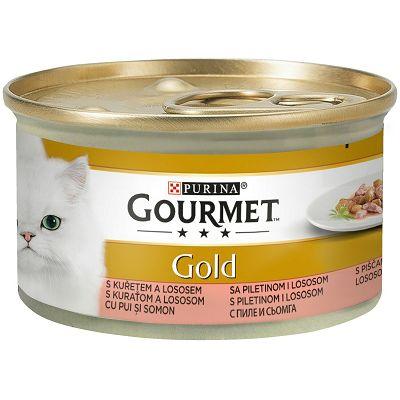 Gourmet Gold hrana za mačke losos i piletina 85g