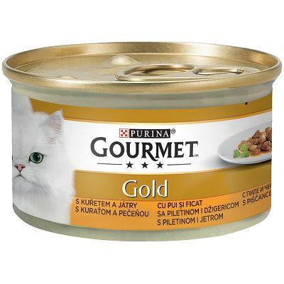 Gourmet Gold hrana za mačke piletina i jetra 85g