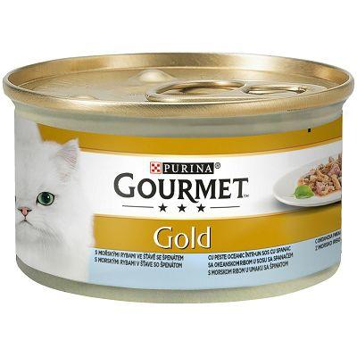 Gourmet Gold hrana za mačke sa komadićima ribe u umaku, 85g