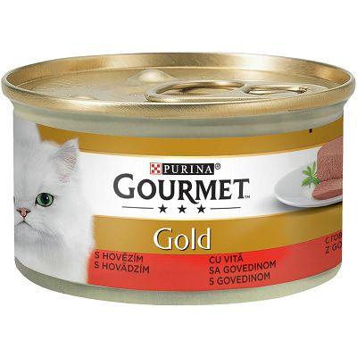 Gourmet Gold Mousse pašteta za mačke sa govedinom 85 g