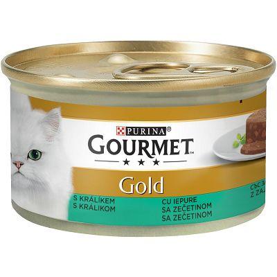 Gourmet Gold Mousse pašteta za mačke sa komadima zečetine 85 g