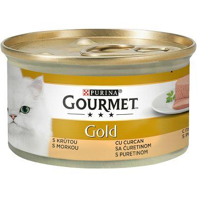 Gourmet Gold Mousse pašteta za mačke sa puretinom 85 g