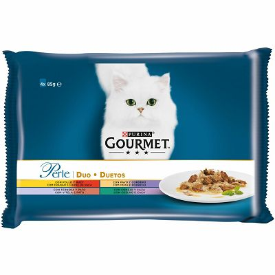 Gourmet Perle Duo hrana za mačke u 8 okusa, 4 pakovanja po 85g