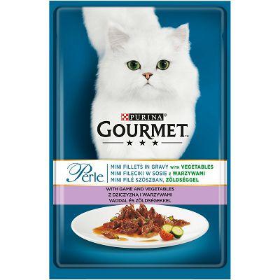Gourmet Perle hrana za mačke mini file sa divljači i povrćem u umaku 85g