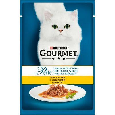 Gourmet Perle hrana za mačke piletina file sa povrćem u umaku 85g