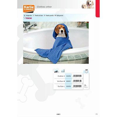 Karlie Flamingo Poncho Bath peškir za pse plavi