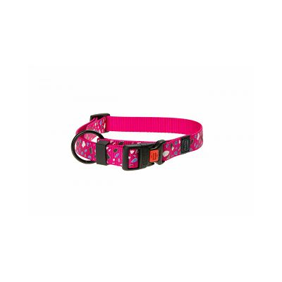 Karlie ogrlica za psa 30-45cm 15mm pink S