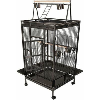 Kavez za ptice 83x77x168cm crni