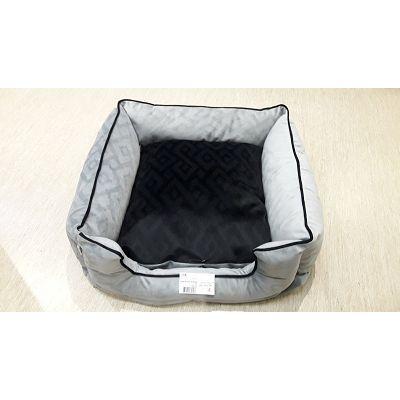 DMC krevet za psa - Bonny 60x60cm sivo-crni