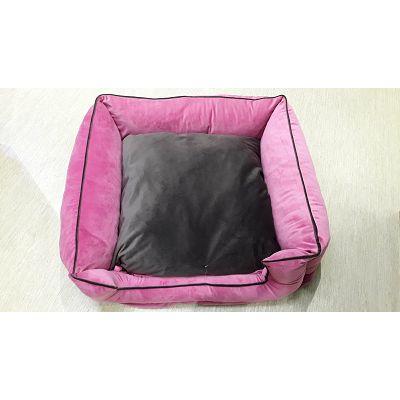 DMC krevet za psa - Bonny 70x70cm roze-smeđi