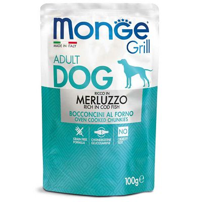 Monge Grill Adult Dog riba bakalar hrana za pse 100g
