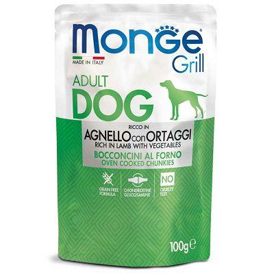 Monge Grill Adult Dog janjetina sa povrćem hrana za pse 100g