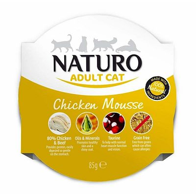 Naturo Adult Cat Chicken Mousse hrana za mačke piletina 85g