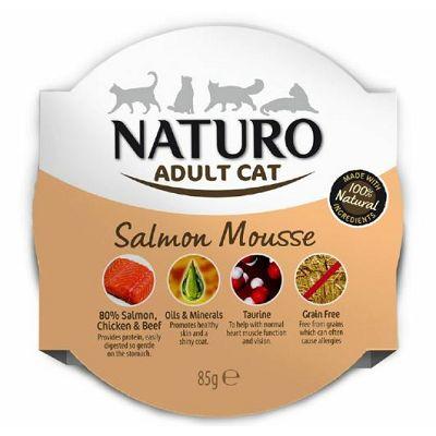 Naturo Adult Cat Salmon Mousse hrana za mačke losos 85g