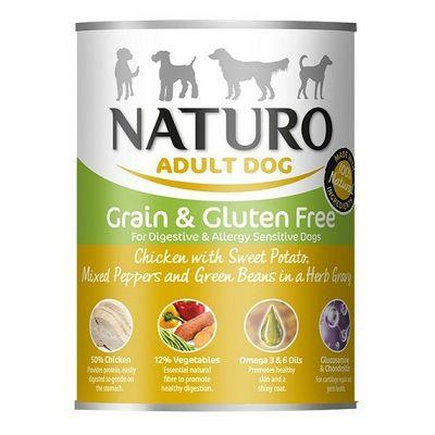 Naturo Adult Dog Grain & Gluten Free / piletina 390g
