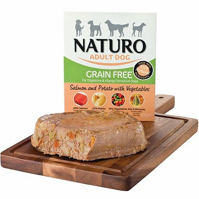 Naturo / Adult GRAIN FREE/ LOSOS & KROMPIR sa POVRĆEM 400g