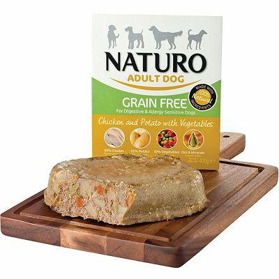 Naturo / Adult GRAIN FREE / PILETINA & KROMPIR sa POVRĆEM 400g