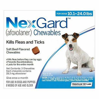 NEXGARD tablete protiv buha i krpelja za pse težine 4-10 kg