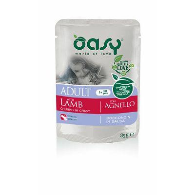 OASY Adult Lamb / janjetina hrana za odrasle mačke 85g