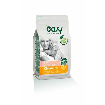 OASY Adult light in fat /  piletina dijetalna hrana za mačke 1,5kg