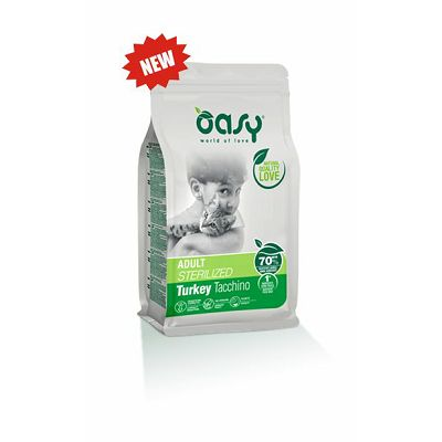 OASY adult sterilized turkey puretina hrana za sterilisane mačke 300g